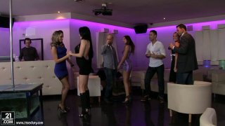 Group sex fun with hot bitches Aleska Diamond and Aletta Ocean image