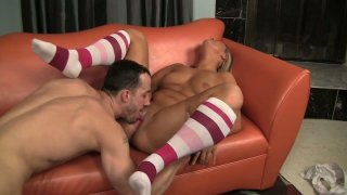 Steamy pounding on the couch with Jessica Marie and Chris Strokes image