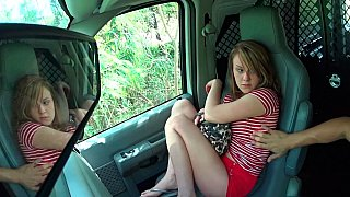 Tiny teenager resists_forceful sex in car image