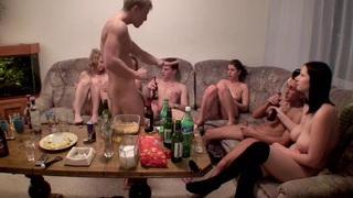 Dana & Janet Haven & Kristine Crystalis & Sonja in naked students enjoying hardcore and oral sex image