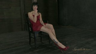 Hussy girl Asphyxia Noir crying with pain image