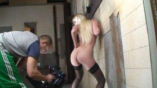 Tight blonde hoe Lena Cova masturbates in front of the cam image