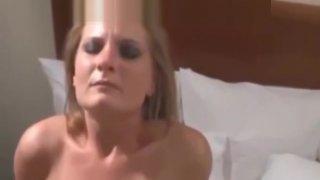 Slut Wife Creampied by Rough BBCs in Boston Hotel image