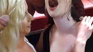 Image: Slutty Euro Babes Gets Golden Shower And Suck Cocks