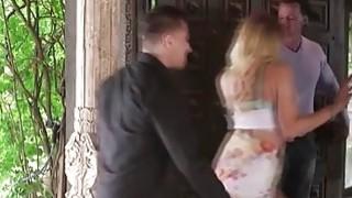 Horny blonde juggie fucks her husbands best friend image