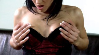 Sandra peels herself out of her lingerie image