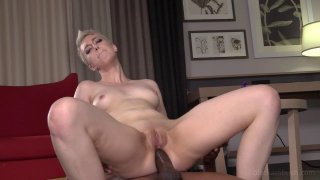 Short haired babe takes a BBC_up the ass hard image