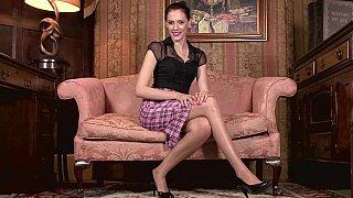 Milf in vintage lingerie teasing image
