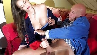 Tight Young Teen Gets Cum Face Pussy Sex Old Man image