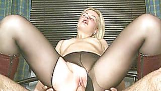 Hot blonde girlfriend sucks and fucks with CIM image