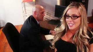 Horny bitch Samantha Saint dreams_of having an oral sex with a dream boy image