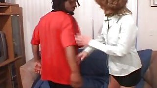 Desperate mom with fake tits invited big black cock for casual porn sex image