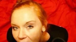Amateur Redhead Eats_his_Cum image