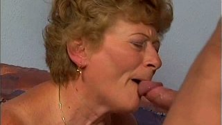 Image: Old cock hungry bitch Virginia sucks a cock tremendously well