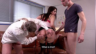 Wild DP_threesome with teacher image