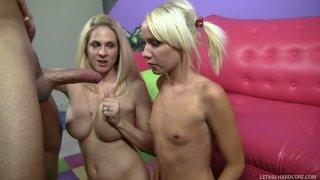 Kinky chicks Alexia Skye and Angela Attison please Mario Cassini's hard dick image