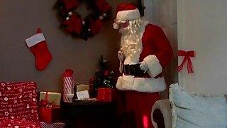 Sneaky Santa brought his rock hard penis as a gift image