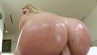 Hot blonde fucked in her twat and butt image