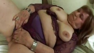 Image: Fat Granny Gives Head And Gets Pounded On Couch