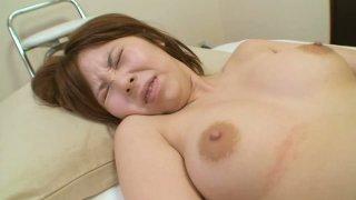 Fingerfuck transforms into ardent masturbation with Takako Sakai image