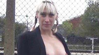 Blonde flasher Dees exhibitionist adventures image