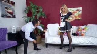 Image: Nipple-pierced maid Kali Roses gets her cunt slammed