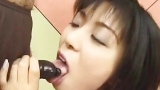 Japanese anchorwoman loves to swallow her cooworkers semen image