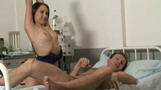 Sexed nurse Alesya behind the scene_video image
