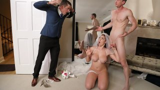 Father in Law Bangs Bride before Wedding image