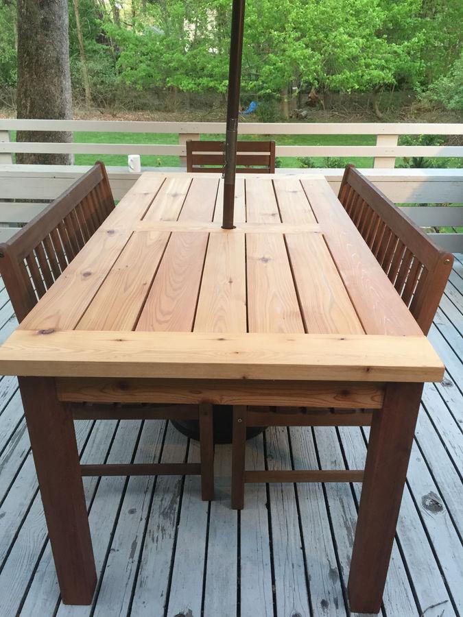 outdoor cedar patio table by steve s