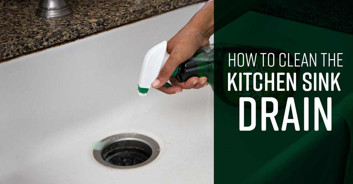 how to clean kitchen sink drain