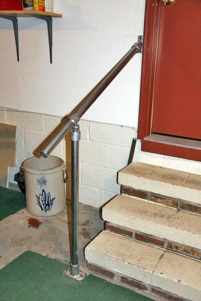 15 Customer Railing Examples For Concrete Steps Simplified Building | Handicap Rails For Steps | Grab Rail | Deck | Porch Railing | Bed Rails | Activated Led