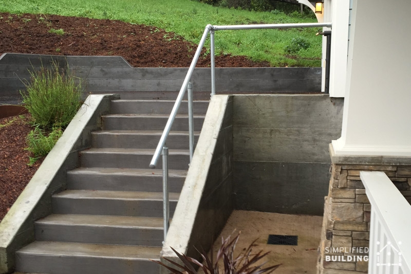 14 Exterior Handrail Ideas Simplified Building | Outdoor Handrails Near Me | Handrail Ideas | Metal | Wrought Iron Railings | Stair Railings | Steel Handrail