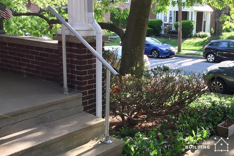 14 Exterior Handrail Ideas Simplified Building   Handrails For Porch Steps   Elderly   Makeover   Metal   Back Porch   Aluminum