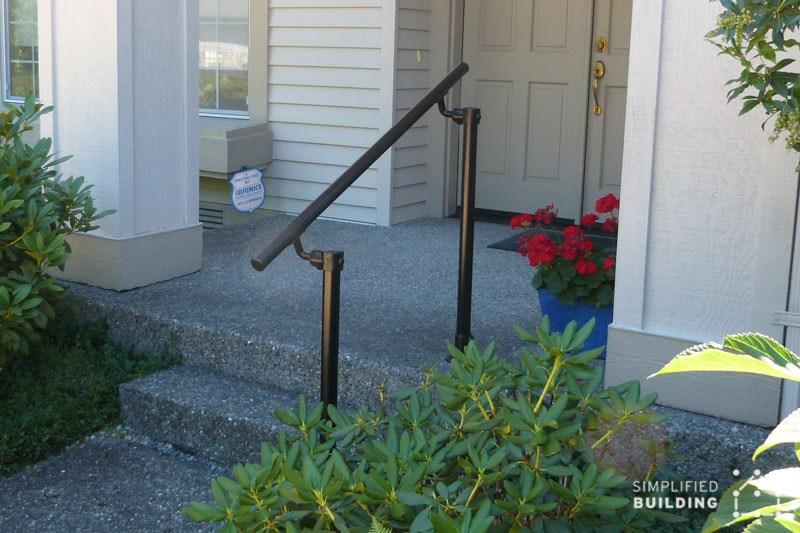 14 Exterior Handrail Ideas Simplified Building | Custom Handrails Near Me | Wood | Balcony | Deck Railing | Powder Coating | Steel