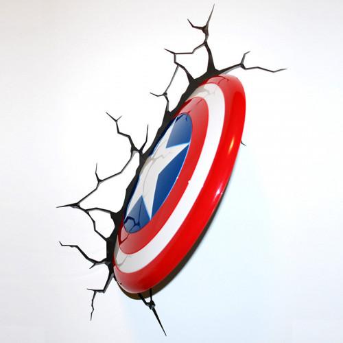 Captain America Shield Wall Light