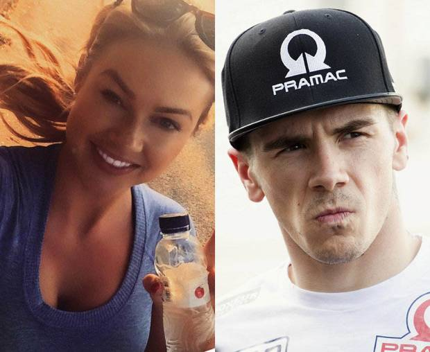Scott Redding (Pramac Racing Ducati) dengan mantan kekasihnya Penny Sturgess. (Foto-dailystar.co.uk)