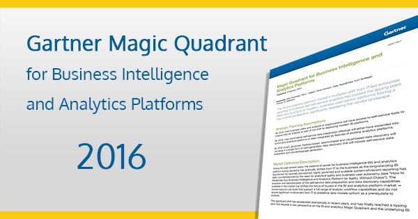 Gartner Magic Quadrant For Business Intelligence Amp Analytics