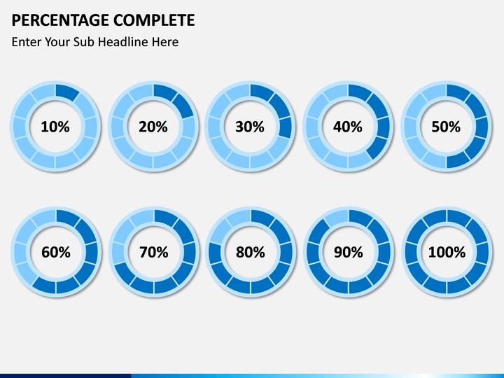 Percentage Complete Powerpoint Template Sketchbubble