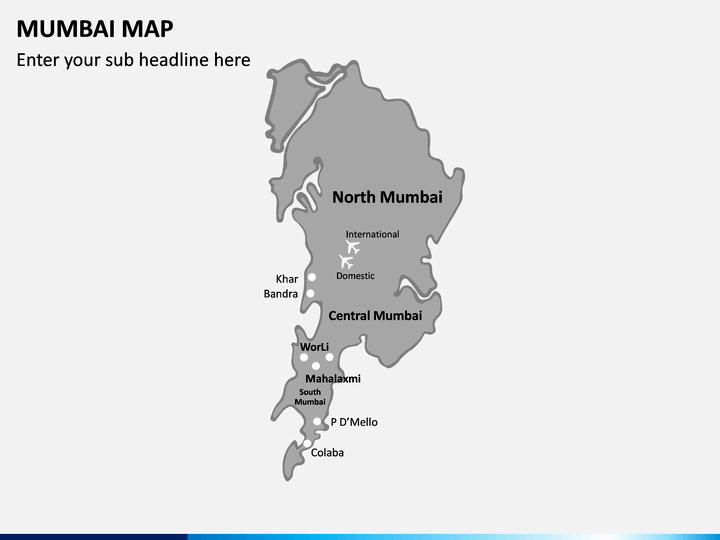 Mumbai Map Powerpoint Sketchbubble