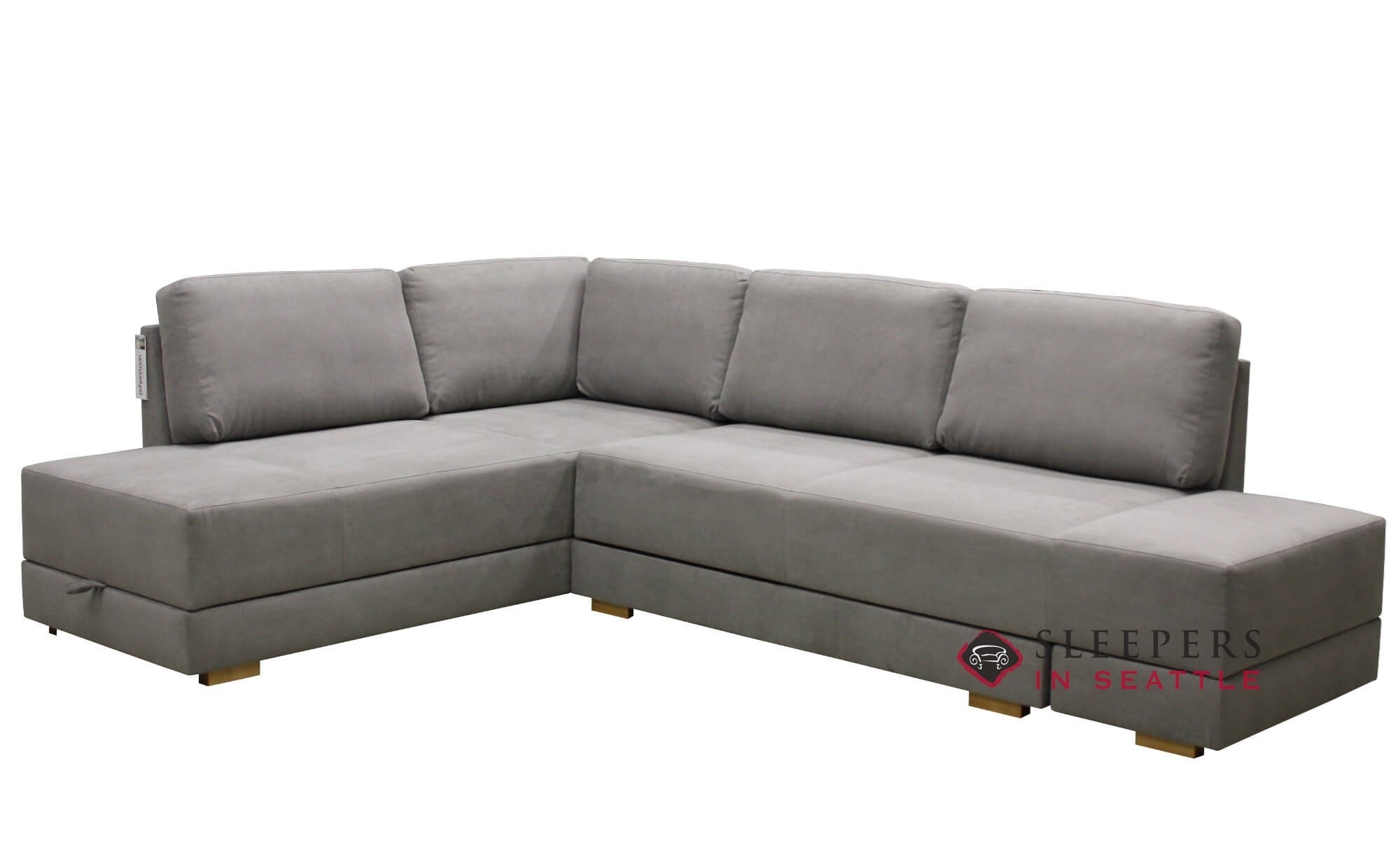 Brooklyn Sectional Queen Sleeper Sofa By Luonto With Storage Option
