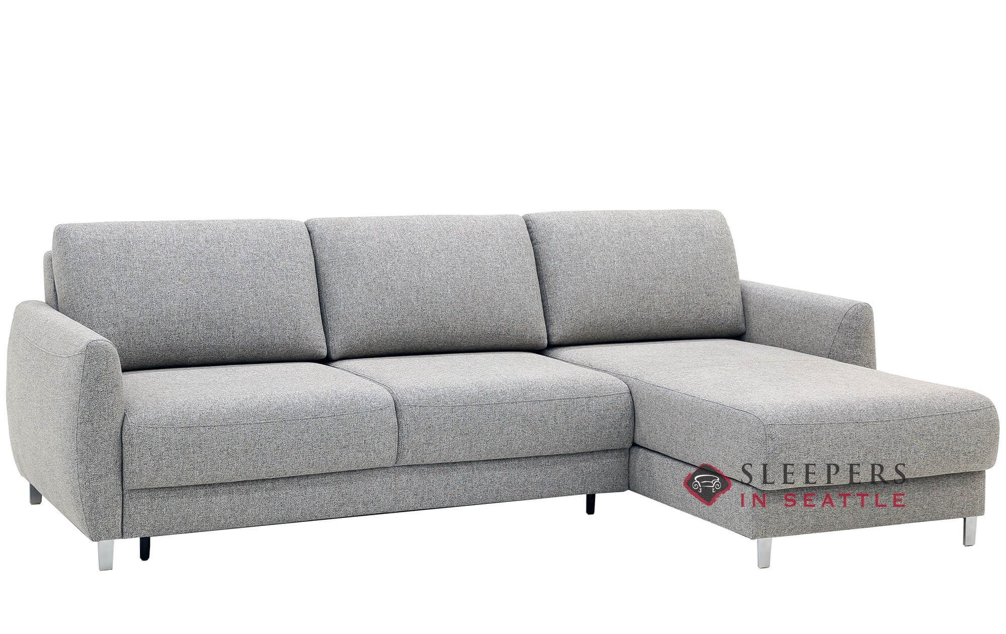 Quick Ship Delta Chaise Sectional Fabric Sofa By Luonto Fast Shipping Delta Chaise Sectional Sofa Bed Sleepersinseattle Com
