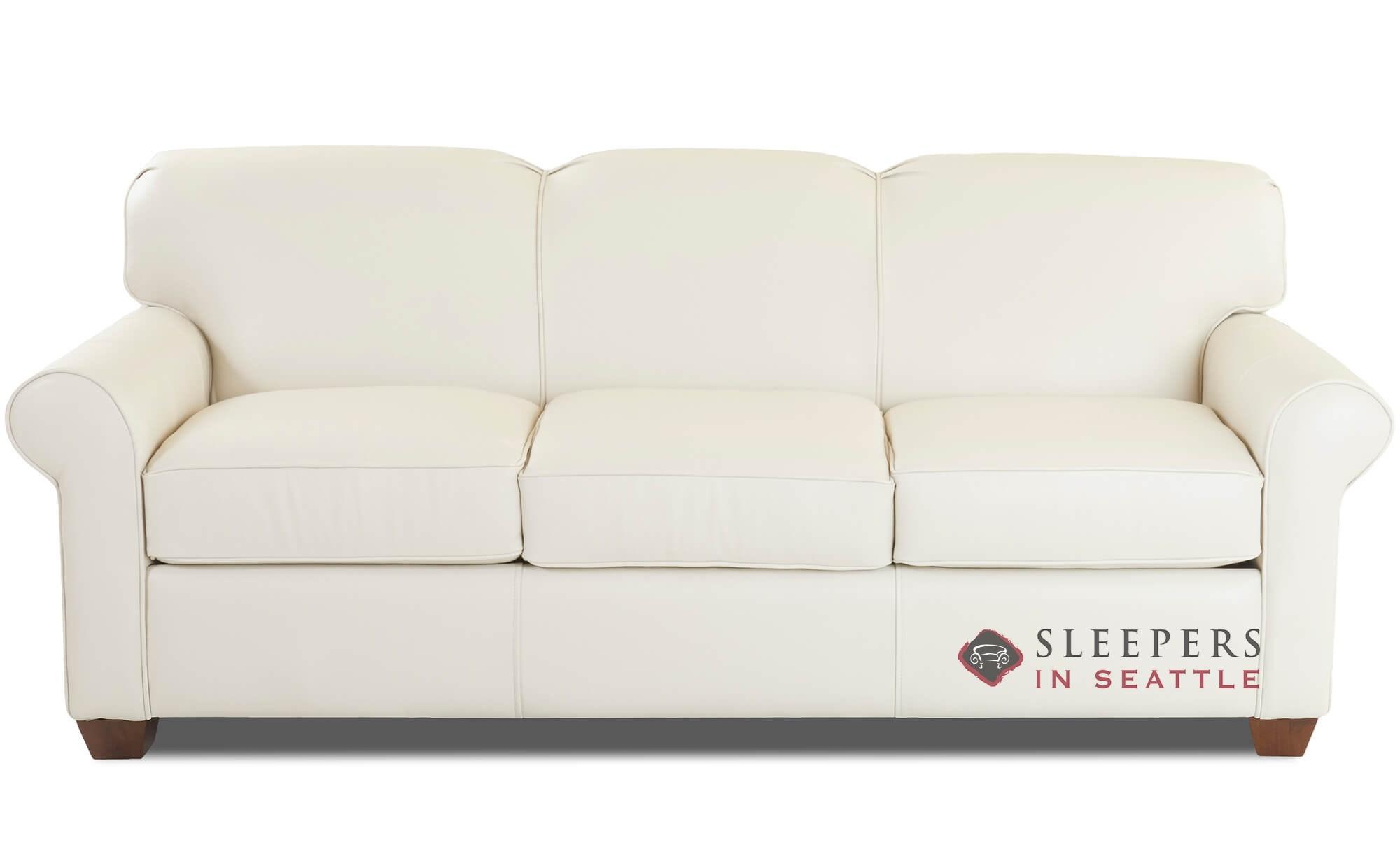 Savvy Calgary Leather Queen Sleeper Sofa