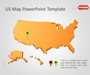 Free Us Map Powerpoint Template Free Powerpoint Templates