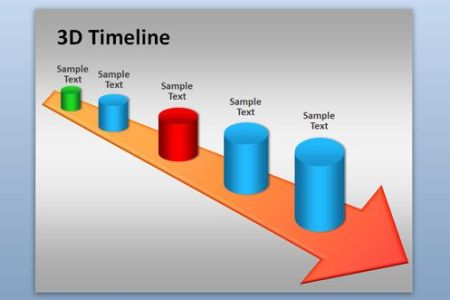 Best Free And Premium PowerPoint Timeline Templates Free 3D Timeline PowerPoint Template