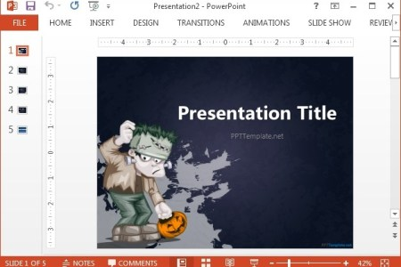 Awesome cartoon horror halloween ppt template for free download on halloween powerpoint template slidemodel template skeleton and background graveyard scary costume pictures for halloween creepy tree background powerpoint toneelgroepblik Gallery
