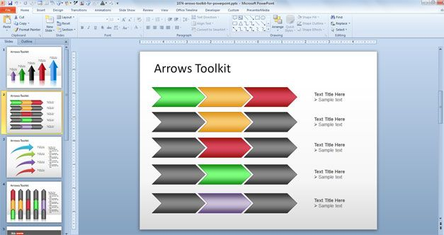 Free Arrows Toolkit For PowerPoint Presentations Free Download