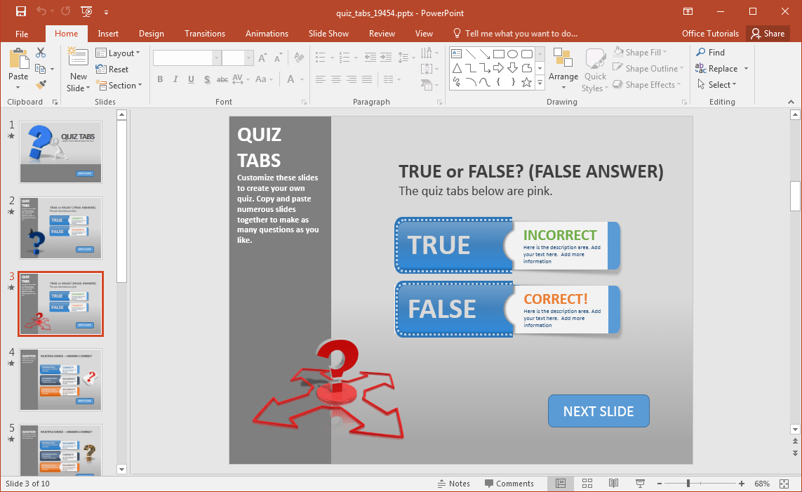 Quiz Template Powerpoint  openoffice org training tips and