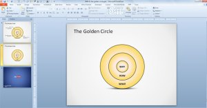 Free The Golden Circle PowerPoint Diagram  Free PowerPoint Templates  SlideHunter