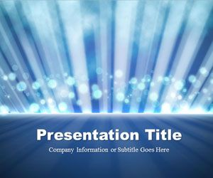 Free Light Rays Blue PowerPoint Template